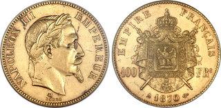 1870 napoleon 100 franc gold coin